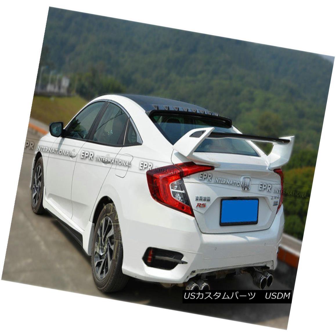 エアロパーツ AER Carbon + FRP Rear Spoiler Wing For Honda Civic FC 10th Generation TR-Style ホンダシビックFC第10世代TRスタイル用AERカーボン+ FRPリアスポイラーウイング