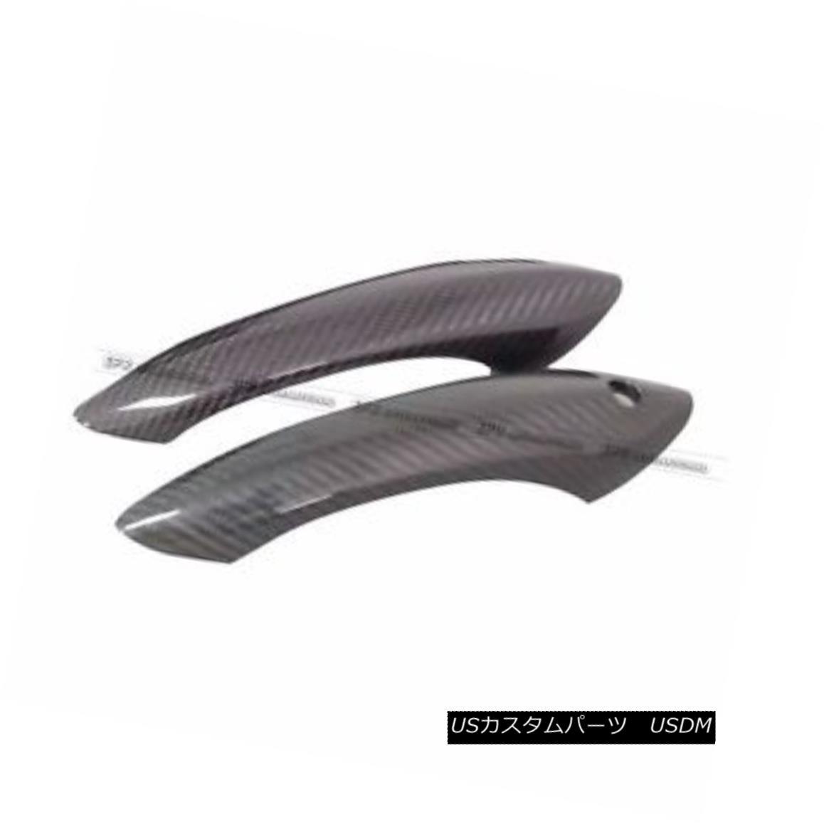 エアロパーツ Carbon Fiber Outter Door Handle Cover Trim For BMW 05-15 E90 E92 E93 F30 F35 2Dr BMW用カーボンファイバー製アウターハンドルカバートリム05-15 E90 E92 E93 F30 F35 2Dr