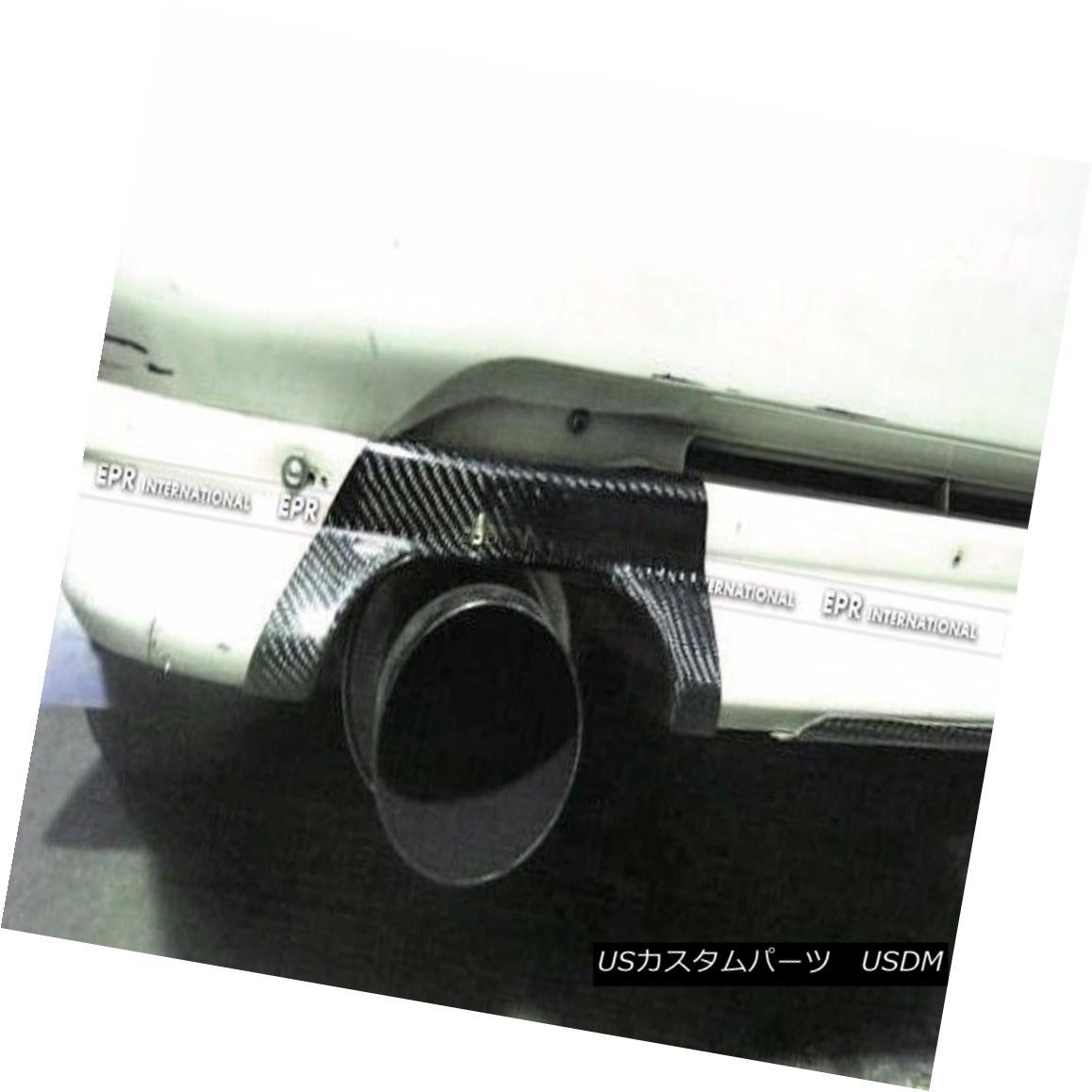 エアロパーツ Carbon Rear Bumper Exhaust Heat Shield Cover Trim For Mitsubishi EVO 5 6 CP9A Mitsubishi EVO 5 6 CP9A用カーボンリアバンパー排気熱シールドカバートリム