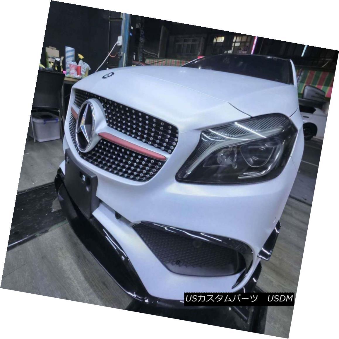 エアロパーツ AER For Mercedes Benz A-Class W176 16-17 ABS 3Pcs Front Bumper Lip Racing Kits AERメルセデスベンツAクラス用W176 16-17 ABS 3個フロントバンパーリップレーシングキット