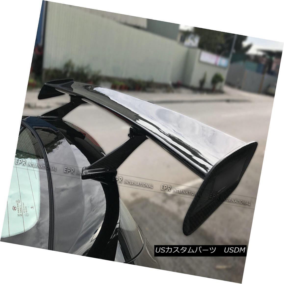 エアロパーツ For Hyundai Veloster Turbo LP Style Carbon Fiber Rear Spoiler Wing Add on Refit Hyundai Veloster Turbo LPスタイルカーボンファイバーリアスポイラーウイング