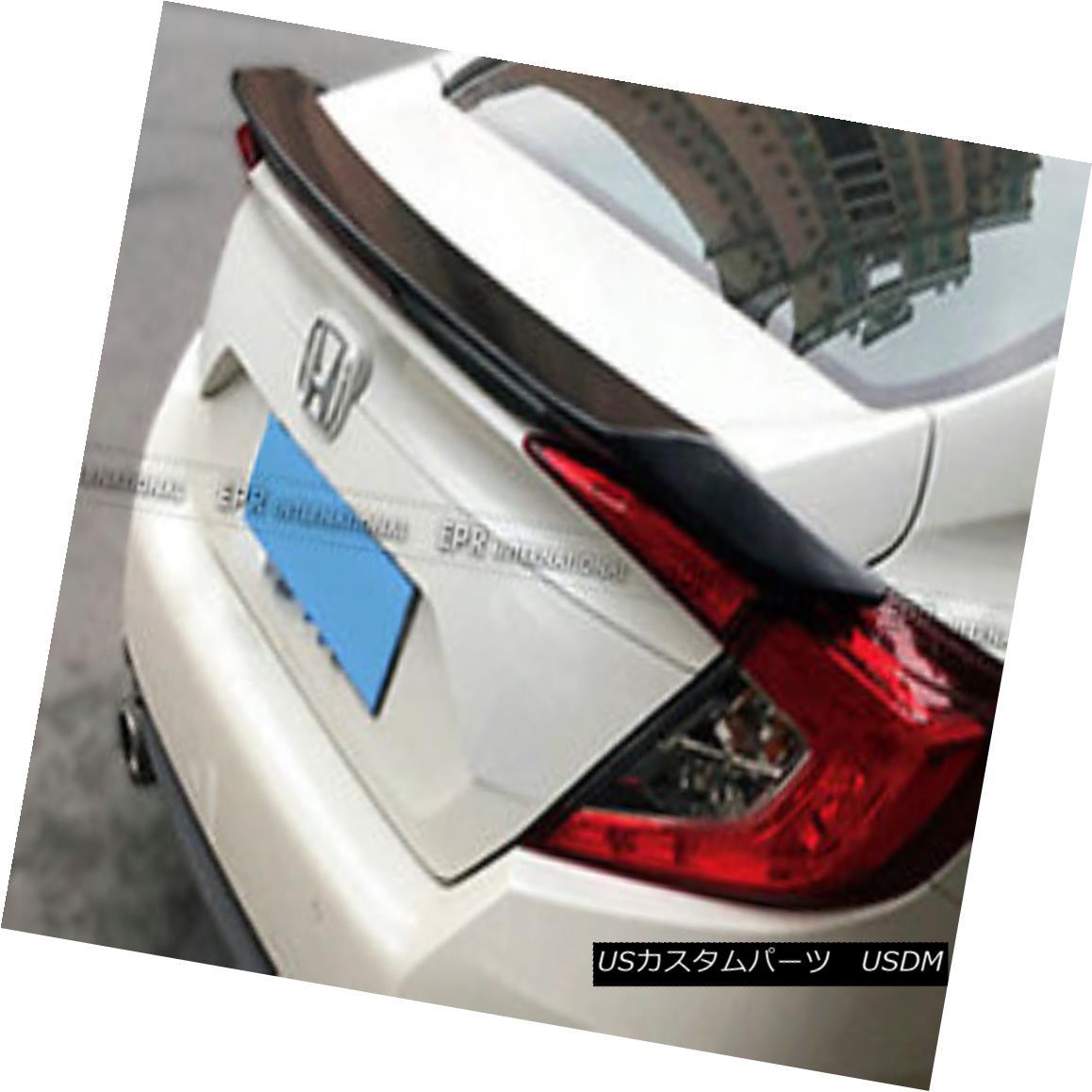 エアロパーツ Pop Carbon Fiber Rear Spoiler Wing For Honda Civic FC 10th Generation RS-Style ホンダシビックFC 10世代RSスタイルのポップカーボンファイバーリアスポイラーウイング