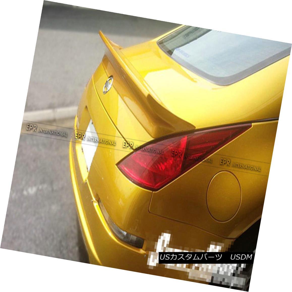 エアロパーツ AER Rear Trunk Spoiler Duckbill Wing Su-int-Gentleman For Nissan 350z Z33 FRP AERの後部トランク・スポイラーダックビル・ウィング・ス・イン・ジェントルム for Nissan 350z Z33 FRP