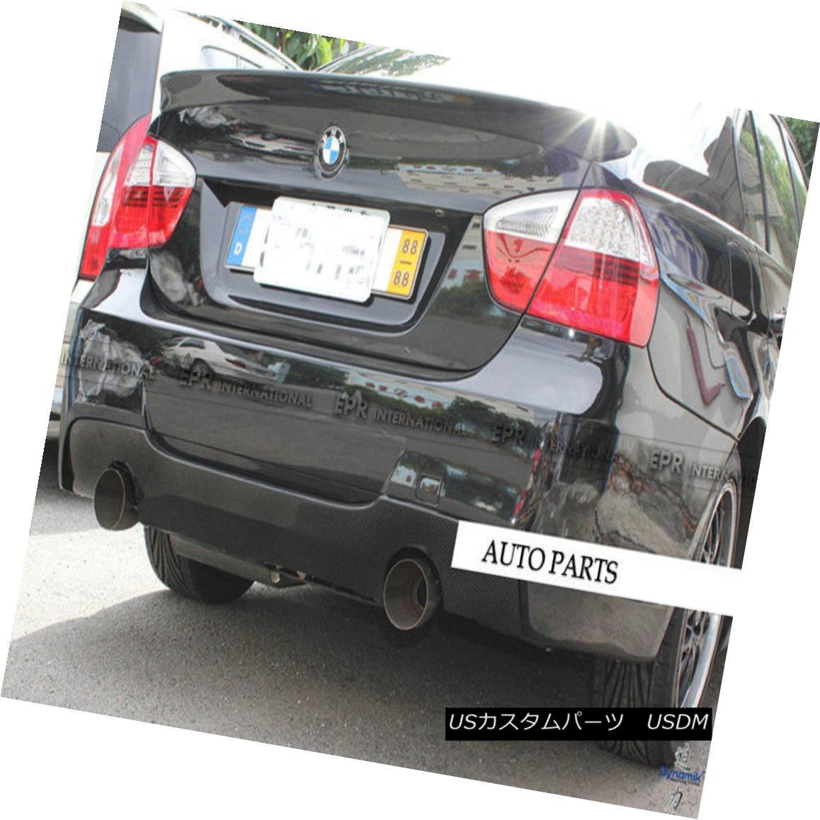 エアロパーツ ABC Carbon Rear Trunk Bumper Diffuser Lip (Twin Exhaust) For BMW E90 M-Tech 335i BMW E90 M-Tech 335i用ABCカーボンリアトランクバンパーディフューザリップ(ツインエキゾースト)