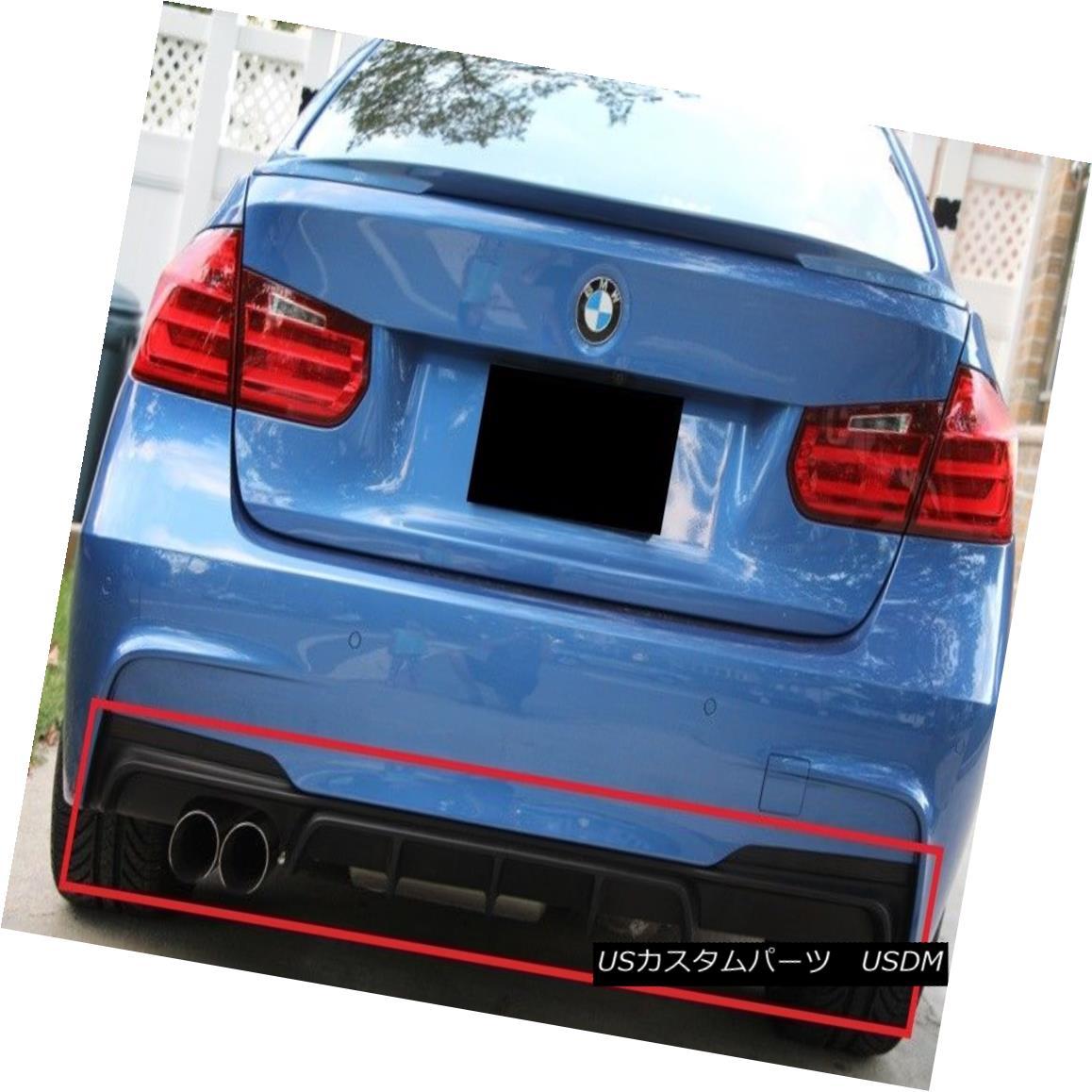 エアロパーツ BMW 3 SERIES F30 F31 FROM 2011 REAR BUMPER DIFFUSER SPOILER M-PERFORMANCE LOOK BMW 3シリーズF30 F31から2011年後部バッフルディフューザースポイラーM-パフォーマンスルック
