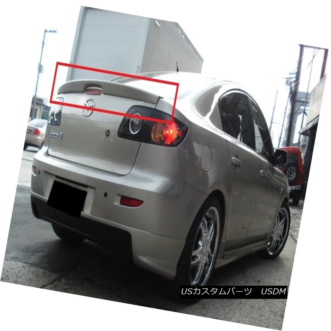 エアロパーツ MAZDA 3 SALOON / SEDAN REAR BOOT / TRUNK SPOILER NEW MAZDA 3 SALOON / SEDANリア・ブーツ/トランク・スポイラーNEW