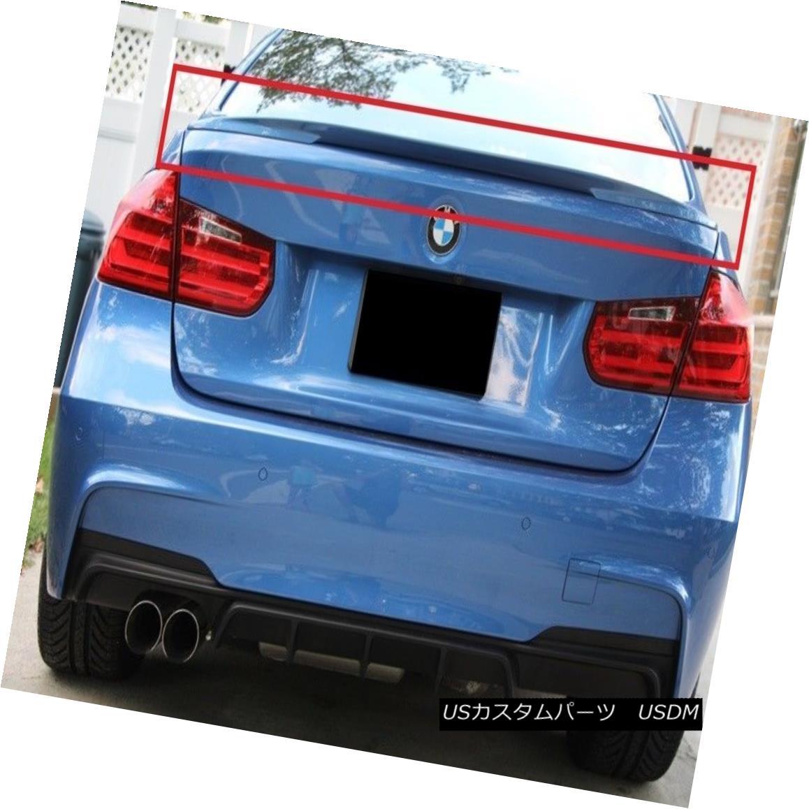 エアロパーツ BMW 3 SERIES F30 REAR BOOT TRUNK LIP SPOILER PERFORMANCE LOOK BMW 3シリーズF30リア・ブーツ・トランク・リップ・スポイラー・パフォーマンス・ルック