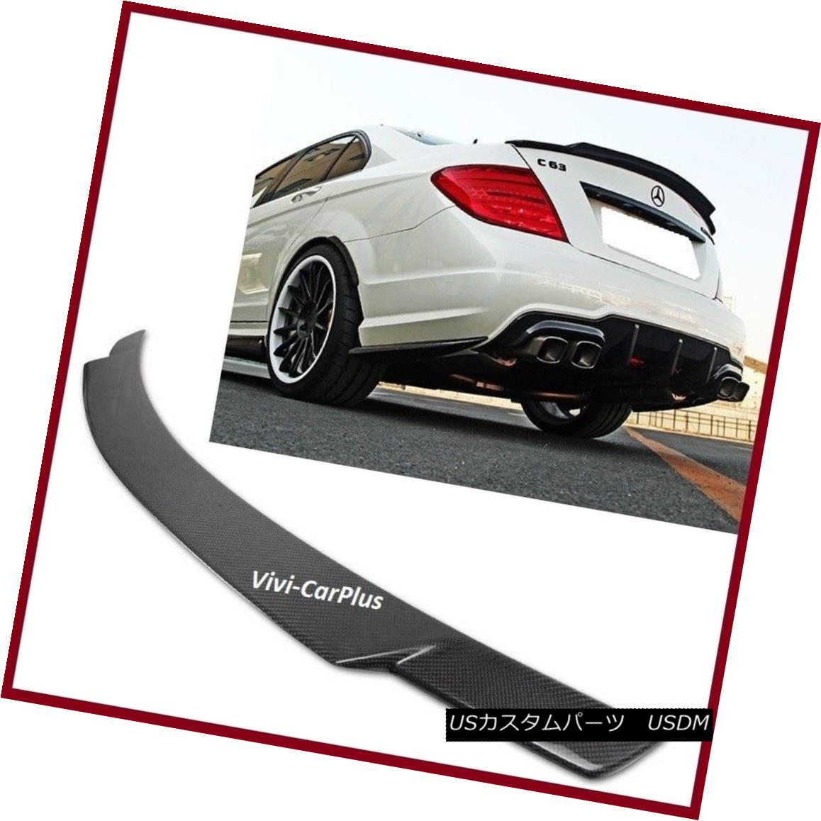 エアロパーツ 08-14 M-Benz W204 C250 C300 C350 C63AMG V Type Trunk Spoiler Carbon Fiber Wing 08-14 MベンツW204 C250 C300 C350 C63AMG Vタイプトランクスポイラーカーボンファイバーウィング