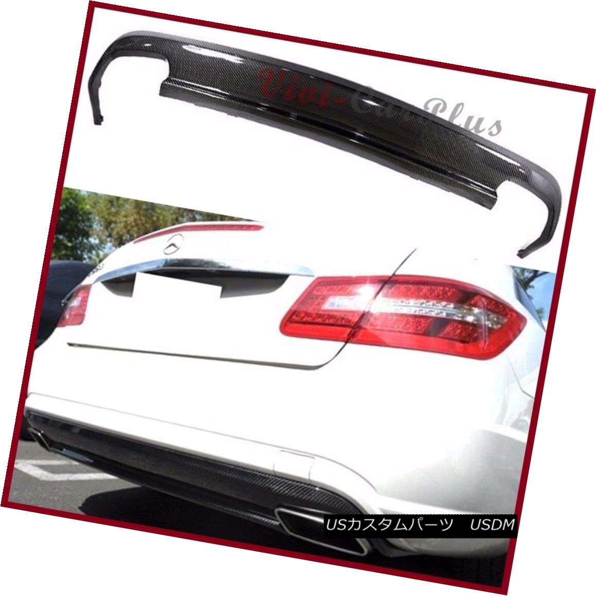 エアロパーツ Carbon Fiber AMG Look Rear Diffuser For 10-13 Benz W207 C207 E350 E550 Coupe 2DR カーボンファイバーAMGルーフディフューザー10-13ベンツW207 C207 E350 E550クーペ2DR