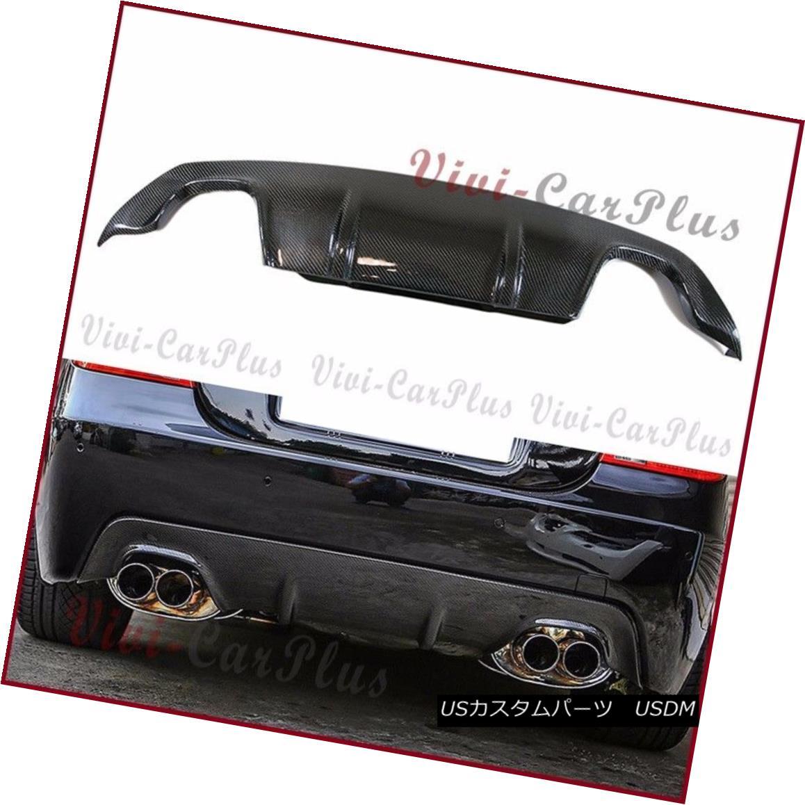 エアロパーツ Carbon Fiber 3D Type Quad Pipes Rear Diffuser BMW 04-10 E60 E61 OE M Tech Bumper カーボンファイバー3DタイプクワッドパイプリアディフューザーBMW 04-10 E60 E61 OE Mテックバンパー