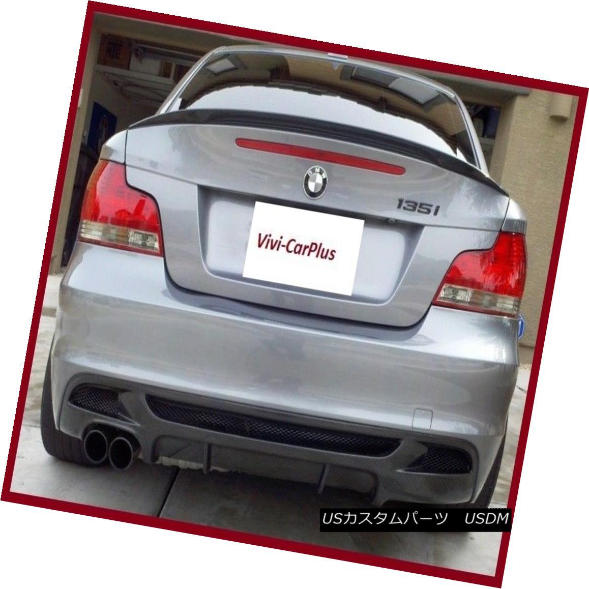 エアロパーツ 07-13 BMW E82 1 Series 128i 135i 1M Performance Style Trunk Spoiler Carbon Fiber 07-13 BMW E82 1シリーズ128i 135i 1Mパフォーマンススタイルトランクスポイラーカーボンファイバー