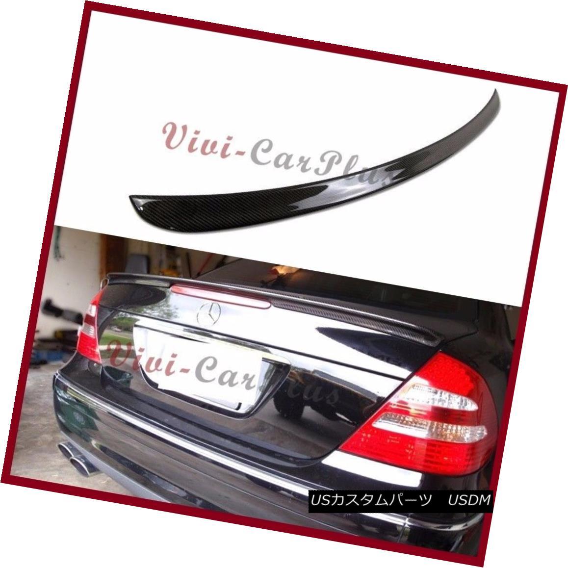 エアロパーツ A Type Trunk Boot Carbon Fiber Spoiler Fit 03-09 BENZ W211 E320 E500 E55AMG E63 Aタイプトランクブーツ炭素繊維スポイラーフィット03-09ベンツW211 E320 E500 E55AMG E63