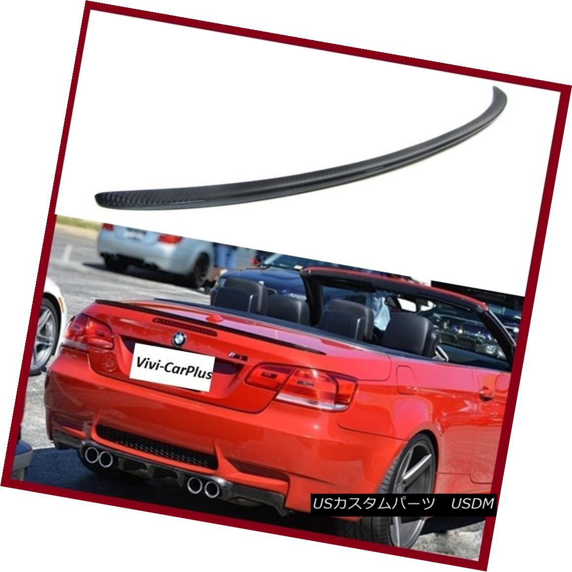 エアロパーツ 07-13 BMW E93 3 Series M3 328i 335i M3 Type Trunk Spoiler Carbon Fiber Wing Lips 07-13 BMW E93 3シリーズM3 328i 335i M3タイプトランクスポイラーカーボンファイバーウイングリップス