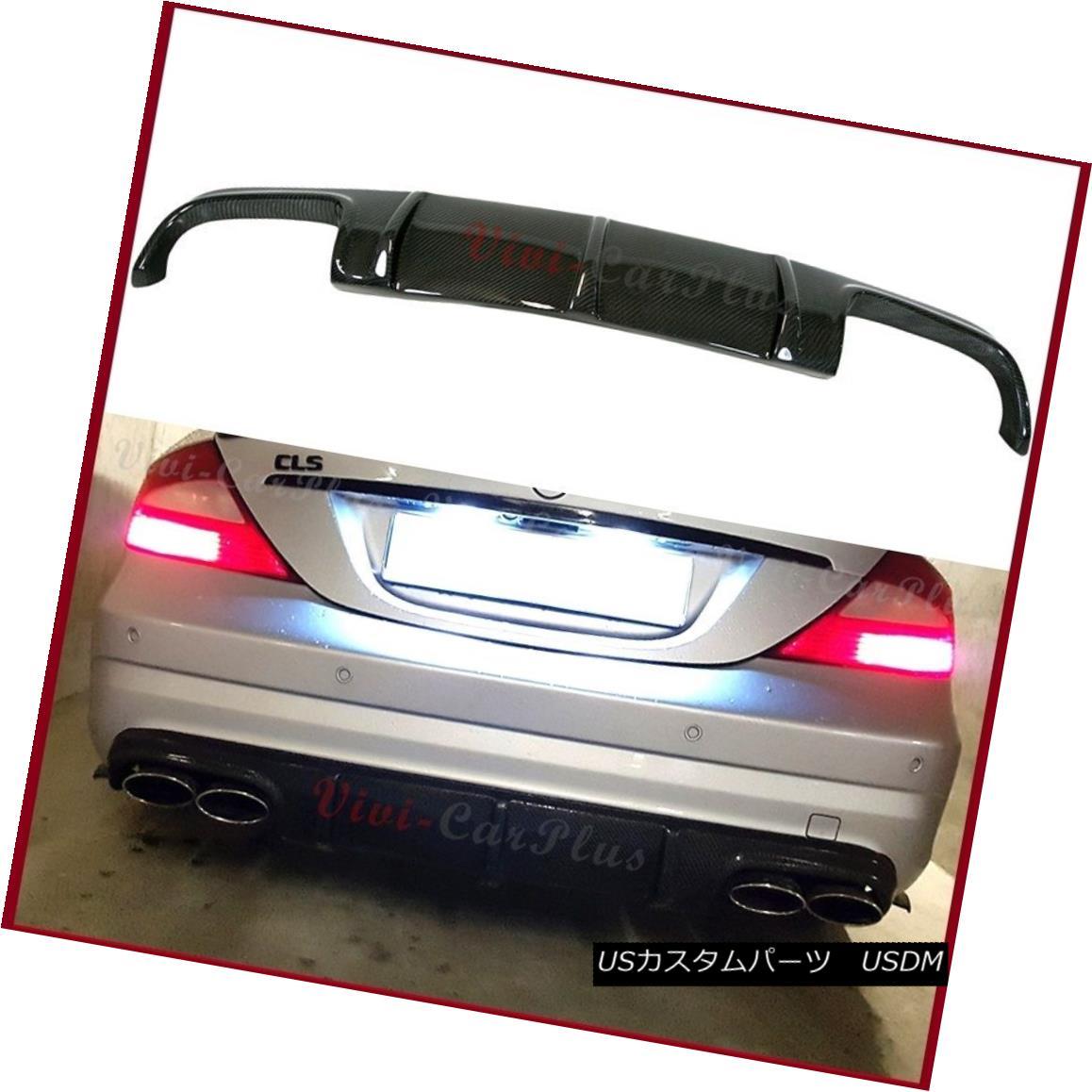 エアロパーツ Carbon Fiber Rear Diffuser Fit BENZ 2006-10 W219 CLS55 CLS63 AMG Bumper Body Lip カーボンファイバーリアディフューザーフィットBENZ 2006-10 W219 CLS55 CLS63 AMGバンパーボディーリップ