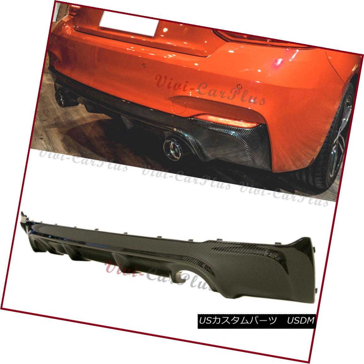 エアロパーツ Carbon Fiber 3D Type Rear Diffuser Lip Fit 2014+ F22 F23 2-Series M-Sport Bumper カーボンファイバー3Dタイプリアディフューザーリップフィット2014+ F22 F23 2シリーズM-スポーツバンパー
