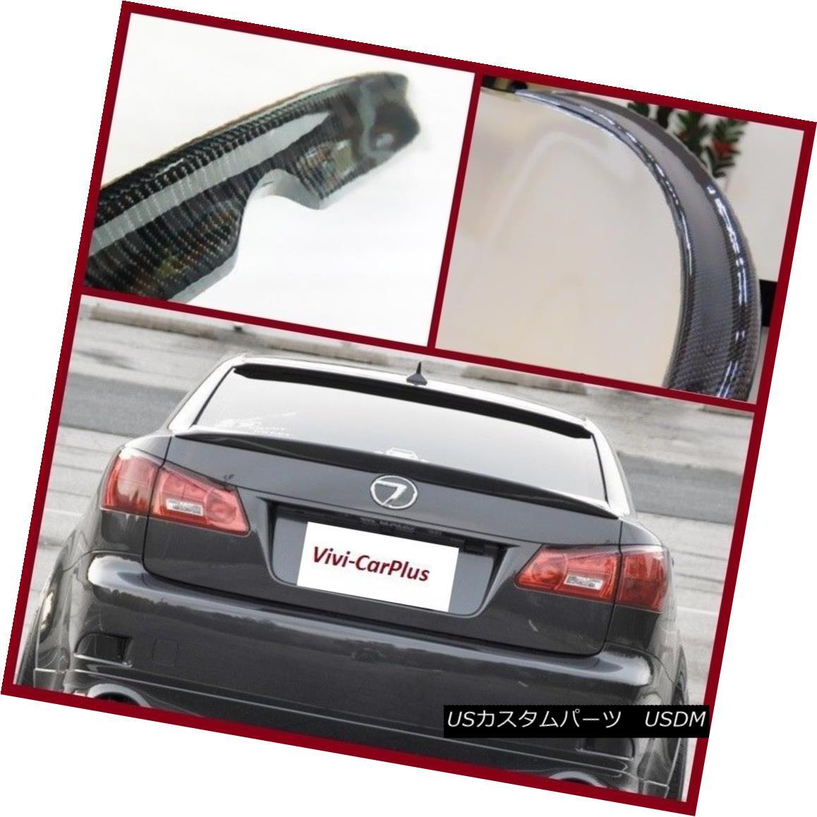 エアロパーツ Carbon Fiber 06-13 LEXUS IS250 IS350 ISF Sedan OE Type Trunk Spoiler Boot Wing 炭素繊維06-13レクサスIS250 IS350 ISFセダンOEタイプトランクスポイラーブーツウィング