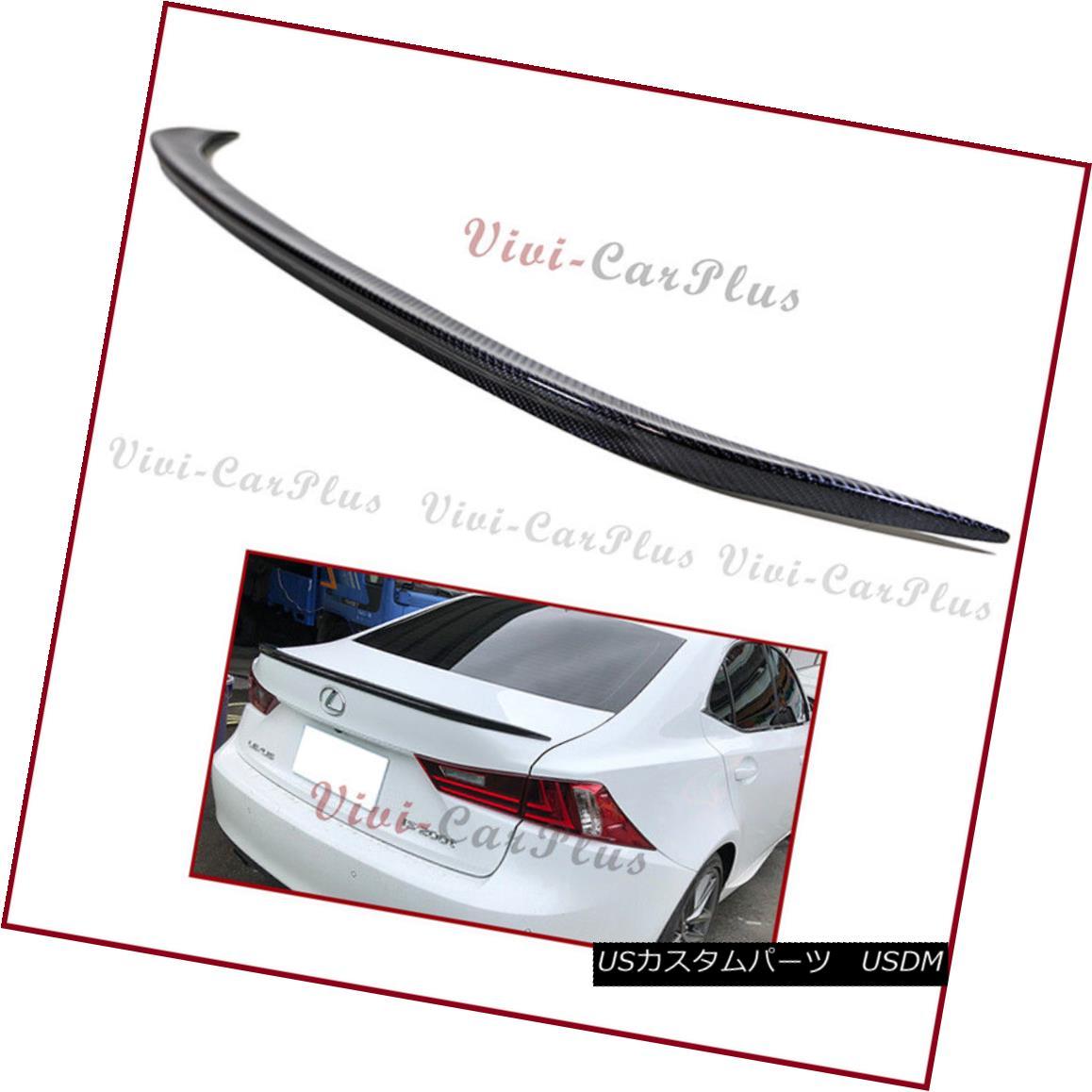 エアロパーツ Carbon Fiber 2014-16 LEXUS IS250 IS350 IS F Sporty Style Tail Trunk Spoiler Lip カーボンファイバー2014-16 LEXUS IS250 IS350 IS Fスポーティスタイルテールトランクスポイラーリップ