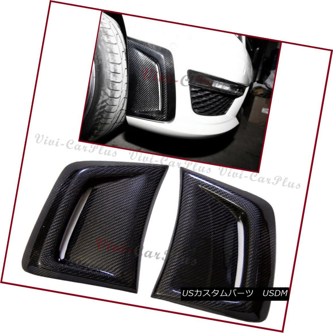 エアロパーツ Carbon Fiber Side Air Vent Induct Cover Hood For 12-14 C204 W204 C63AMG Bumper カーボンファイバーサイドエアベントダクトカバーフード12-14 C204 W204 C 63 AMGバンパー