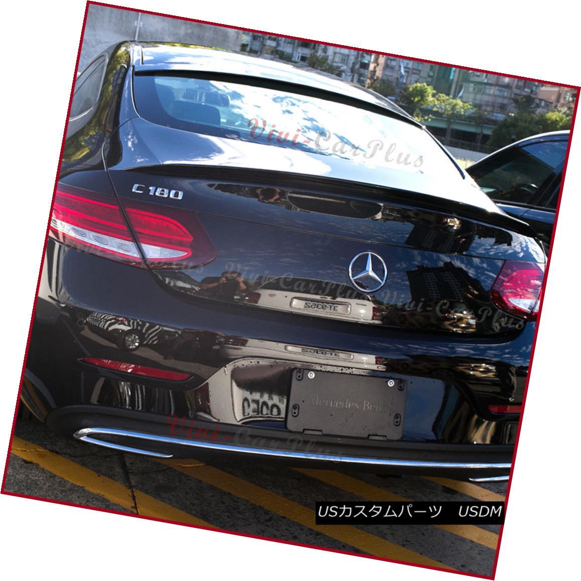 エアロパーツ COMBO PAINTED 16+ BENZ C205 C-Class Coupe A Type Trunk + OE Roof Pair Spoiler コンボ塗装16+ベンツC205 CクラスクーペAタイプトランク+ OE屋根ペアスポイラー