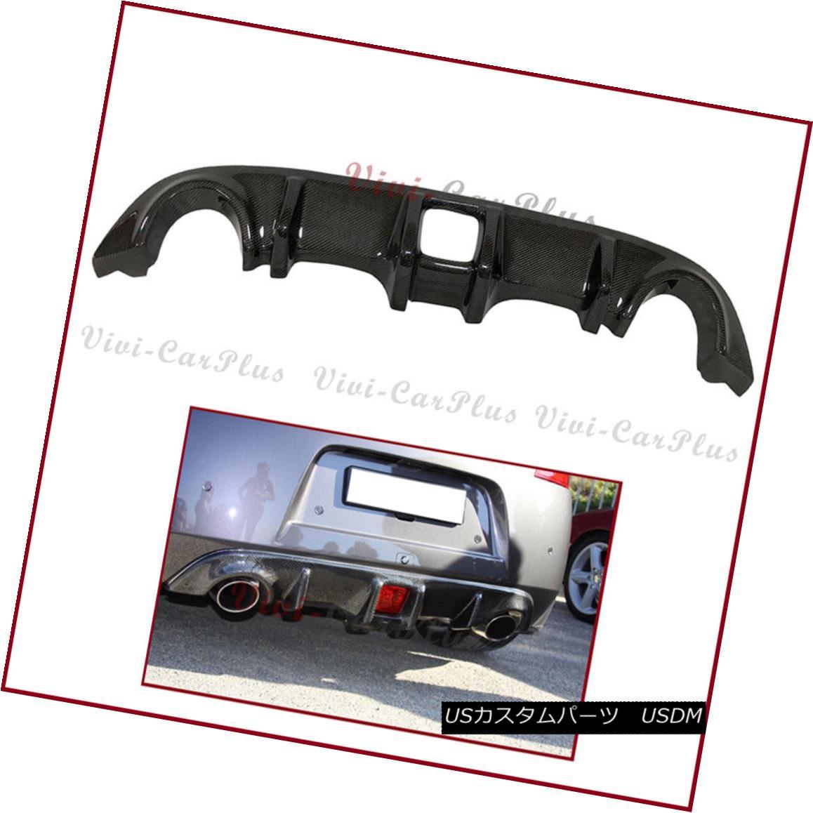 エアロパーツ For 10-17 Nissan 370Z Fairlady Z34 V Type Carbon Fiber Rear Bumper Diffuser Lip 10-17日産370ZフェアレディZ34 Vタイプカーボンファイバーリアバンパーディフューザリップ