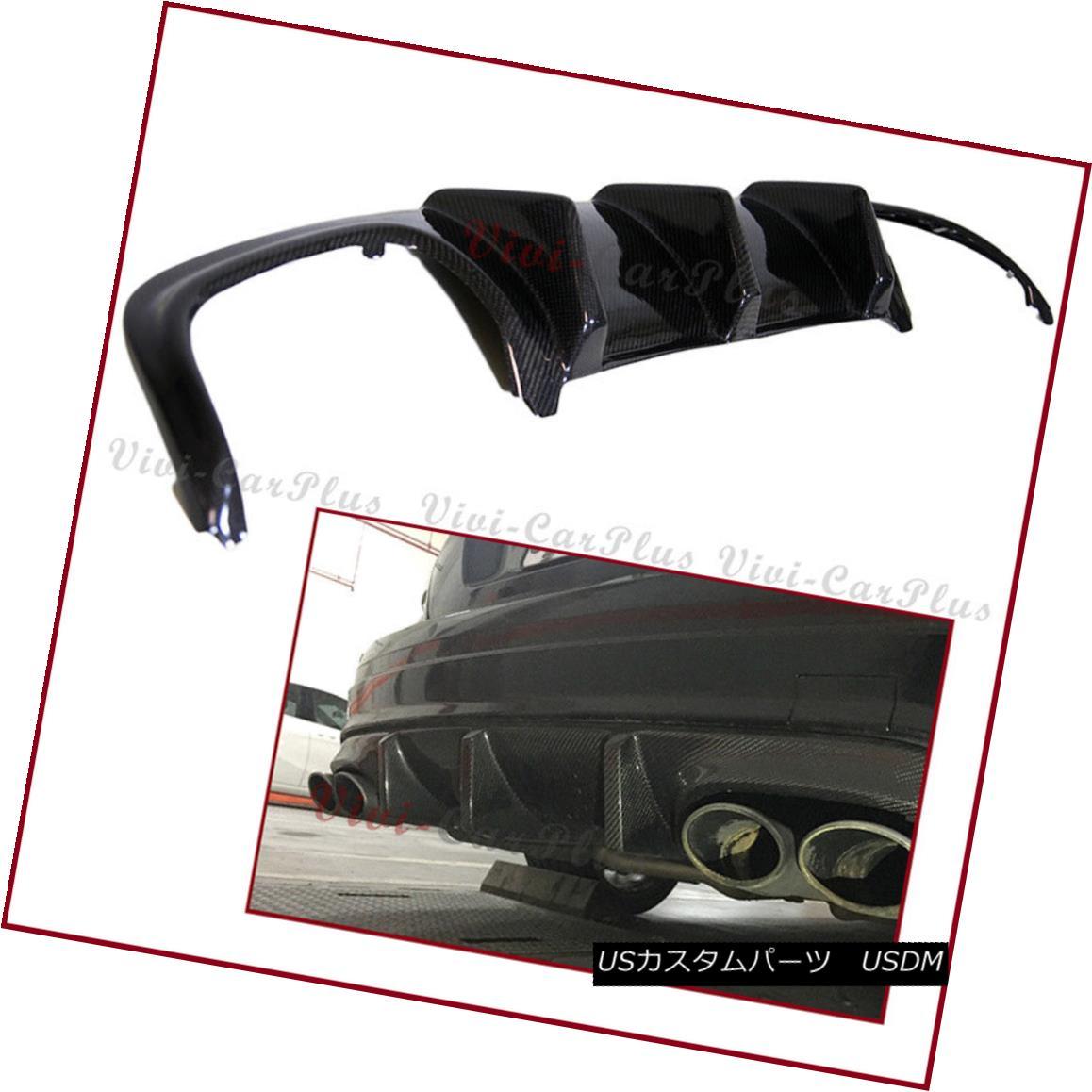 エアロパーツ For 08-11 W204 C350 C63 C300 Sedan JDM Type AMG Bumper Use Carbon Fiber Diffuser 08-11 W204 C350 C63 C300セダンJDMタイプAMGバンパー用カーボンファイバーディフューザー