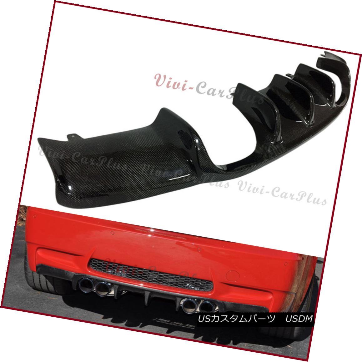 エアロパーツ Fit 2008-13 E92 E93 M3 Rear Bumper AK Look Carbon Fiber Replacement Diffuser Lip フィット2008-13 E92 E93 M3リアバンパーAKルックカーボンファイバー交換ディフューザーリップ