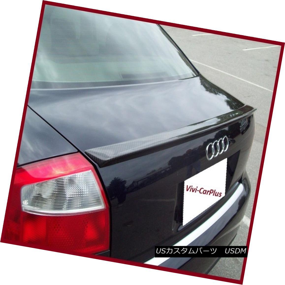 エアロパーツ 2002-2005 AUDI A4 S4 B6 Sedan Quattro S Type Trunk Spoiler Wing Lip Carbon Fiber 2002-2005 AUDI A4 S4 B6セダンクワトロSタイプトランクスポイラーウイングリップカーボンファイバー