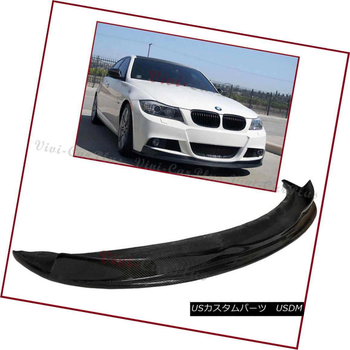 エアロパーツ Carbon Fiber AK Look Add Lip For BMW 09-11 E90 E91 LCI 3-Series M-Sporty Bumper カーボンファイバーAKルックをBMW用に追加する09-11 E90 E91 LCI 3シリーズM-スポーティーバンパー