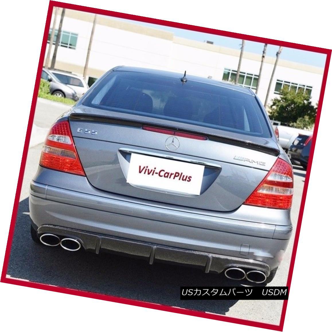 エアロパーツ Carbon Fiber 03-09 M-BENZ W211 E320 E500 E550 E55 E63 A Type Trunk Boot Spoiler カーボンファイバー03-09 M-BENZ W211 E320 E500 E550 E55 E63タイプトランクブーツスポイラー
