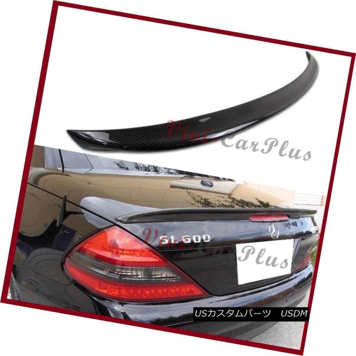 エアロパーツ Carbon Fiber A Type Trunk Spoiler Boot Fit 03-11 M-Benz R230 SL600 SL55 SL63 Lip 炭素繊維A型トランク・スポイラー・ブーツ・フィット03-11 M-Benz R230 SL600 SL55 SL63 Lip