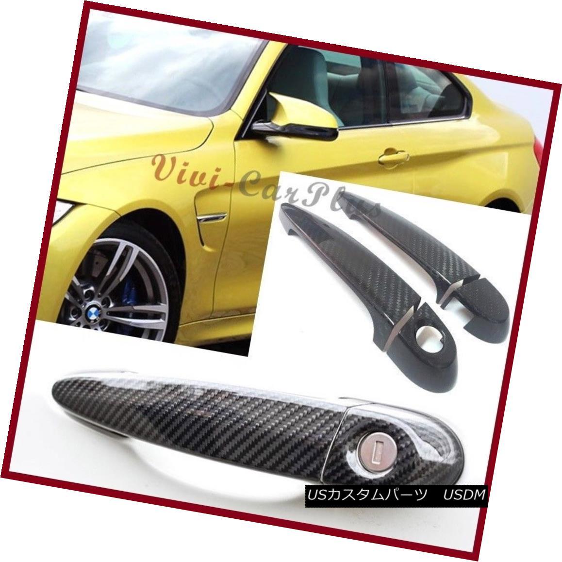エアロパーツ For 2015 UP BMW F82 M4 Coupe Convertible 3K Carbon Fiber Door Handle Cover Set 2015 UP用BMW F82 M4 Coupe Convertible 3Kカーボンファイバードアハンドルカバーセット