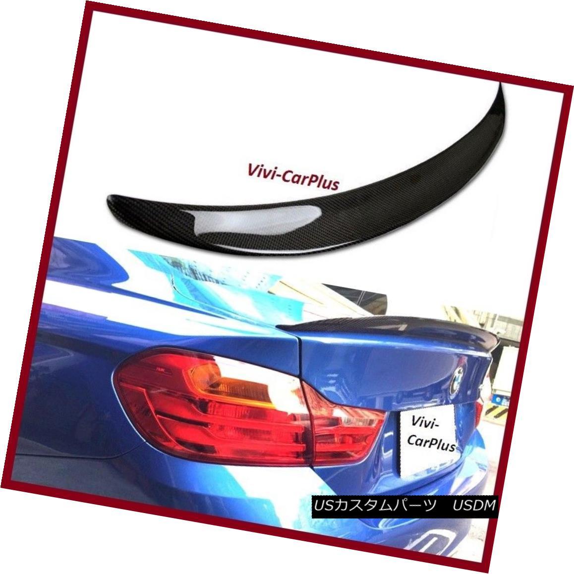 エアロパーツ 14-17 BMW F32 420i 428i 435i Coupe P Type Carbon Fiber Trunk Boot Spoiler Wing 14-17 BMW F32 420i 428i 435iクーペPタイプ炭素繊維トランク・ブーツ・スポイラー・ウィング