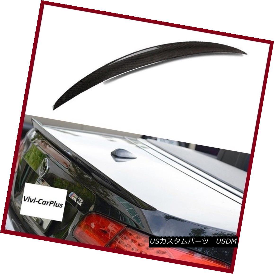 エアロパーツ Carbon Fiber 07-13 BMW E93 3-Series 2Dr 328i 335i M3 P Type Trunk Spoiler Lip カーボンファイバー07-13 BMW E93 3シリーズ2Dr 328i 335i M3 Pタイプトランクスポイラーリップ