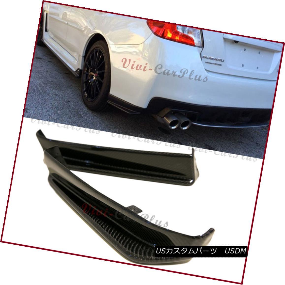 エアロパーツ For 15-17 Subaru STI WRX V Type 3K Carbon Fiber Rear Side Splitter Spoiler 2 Lip 15-17スバルSTI WRX Vタイプ3Kカーボンファイバーリアサイドスプリッタースポイラー2リップ