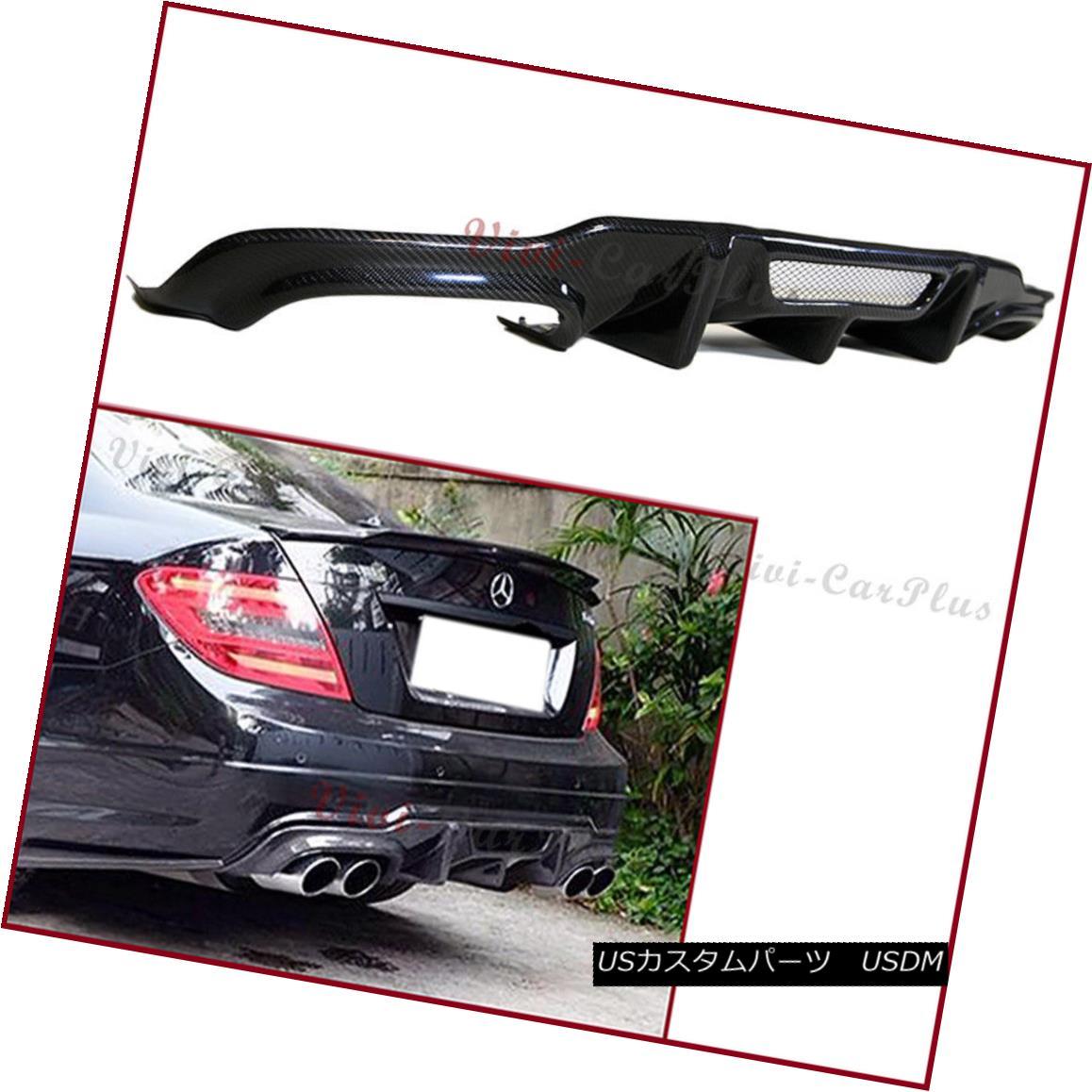 エアロパーツ For 12-14 Benz C204 W204 C300 C350 C63AMG V Type Carbon Fiber Rear Diffuser Lip 12-14ベンツC204 W204 C300 C350 C63AMG Vタイプ炭素繊維リアディフューザリップ