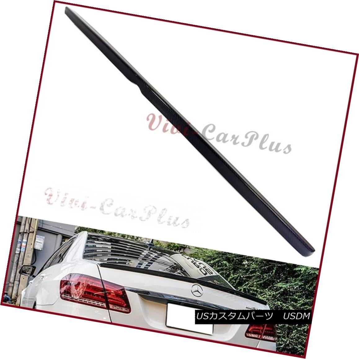 エアロパーツ 3K Carbon Fiber 10-15 Benz W212 AMG Style E250 E350 E550 Trunk Boot Spoiler Wing 3Kカーボンファイバー10-15ベンツW212 AMGスタイルE250 E350 E550トランクブートスポイラーウイング