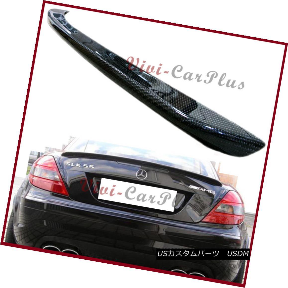エアロパーツ Carbon Fiber M-Benz R171 AMG Trunk Spoiler Fit 05-10 SLK280 SLK300 SLK350 SLK55 炭素繊維M-Benz R171 AMGトランク・スポイラー・フィット05-10 SLK280 SLK300 SLK350 SLK55