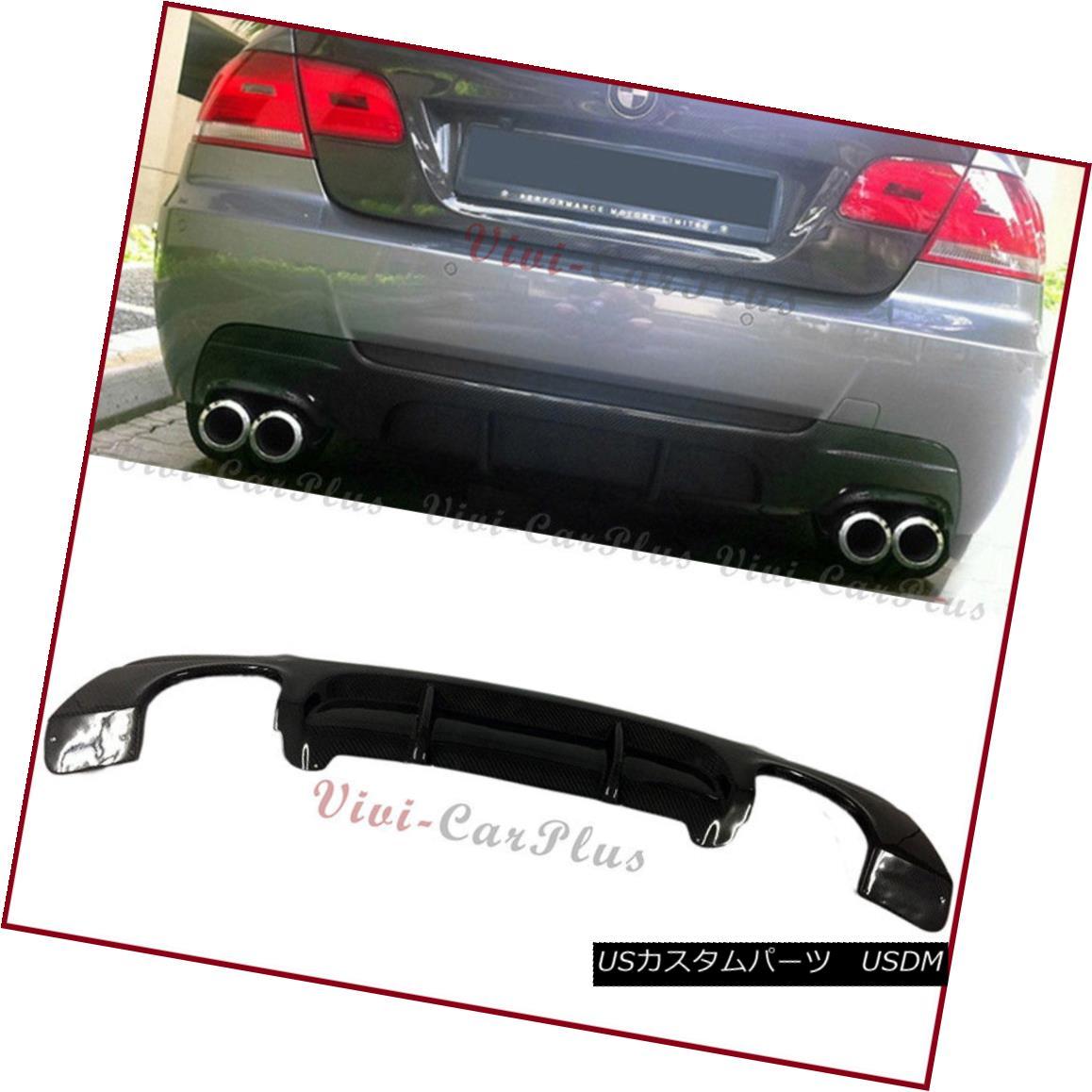 エアロパーツ Fit 07-13 E92 E93 328i 335i M-Sport Bumper Carbon Fiber P Quad Tip Rear Diffuser フィット07-13 E92 E93 328i 335i M-スポーツバンパー炭素繊維Pクワッドチップリアディフューザー