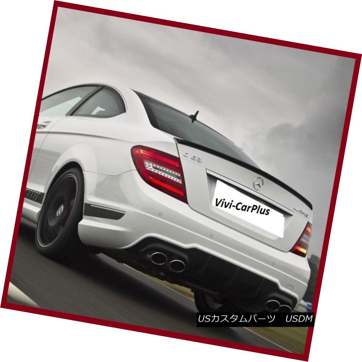 エアロパーツ AMG Type Trunk Spoiler Wing Fit 12-15 M-Benz C204 2Dr C200 C350 C63 Carbon Fiber AMGタイプのトランク・スポイラーウィング・フィット12-15 M-Benz C204 2Dr C200 C350 C63炭素繊維