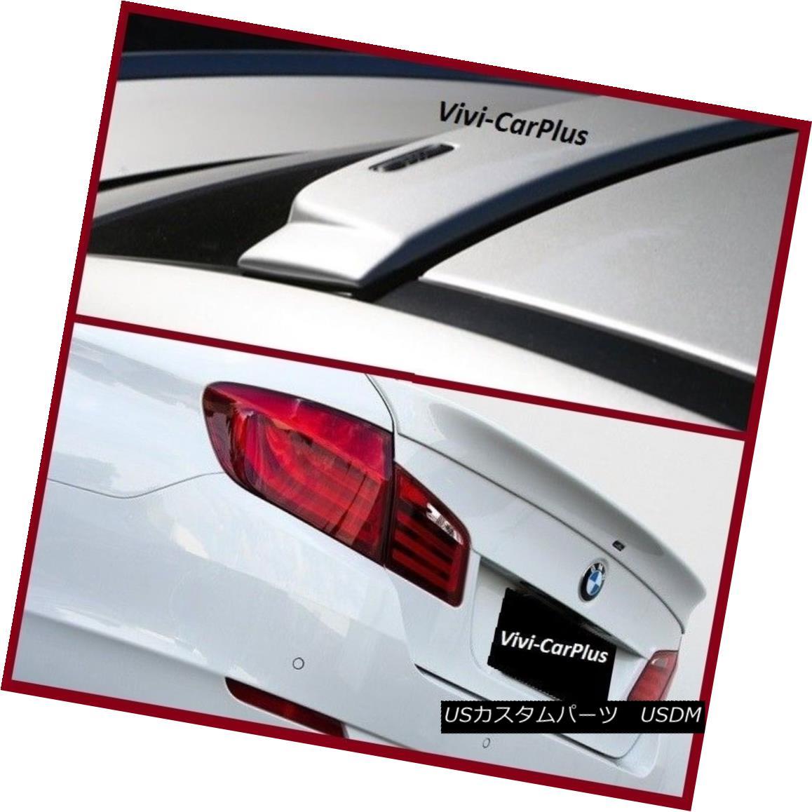 エアロパーツ UNPAINTED 11-16 BMW F10 5 Series 528i M5 535i AC Type Roof + Trunk Boot Spoiler UNPAINTED 11-16 BMW F10 5シリーズ528i M5 535i ACタイプルーフ+トランク・ブーツ・スポイラー