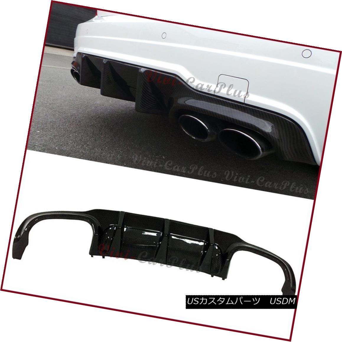 エアロパーツ For 12-14 M-Benz W204 C-Class V2 Type Carbon Fiber Rear AMG Bumper Diffuser Lip 12-14 MベンツW204 CクラスV2タイプカーボンファイバーリアAMGバンパーディフューザーリップ