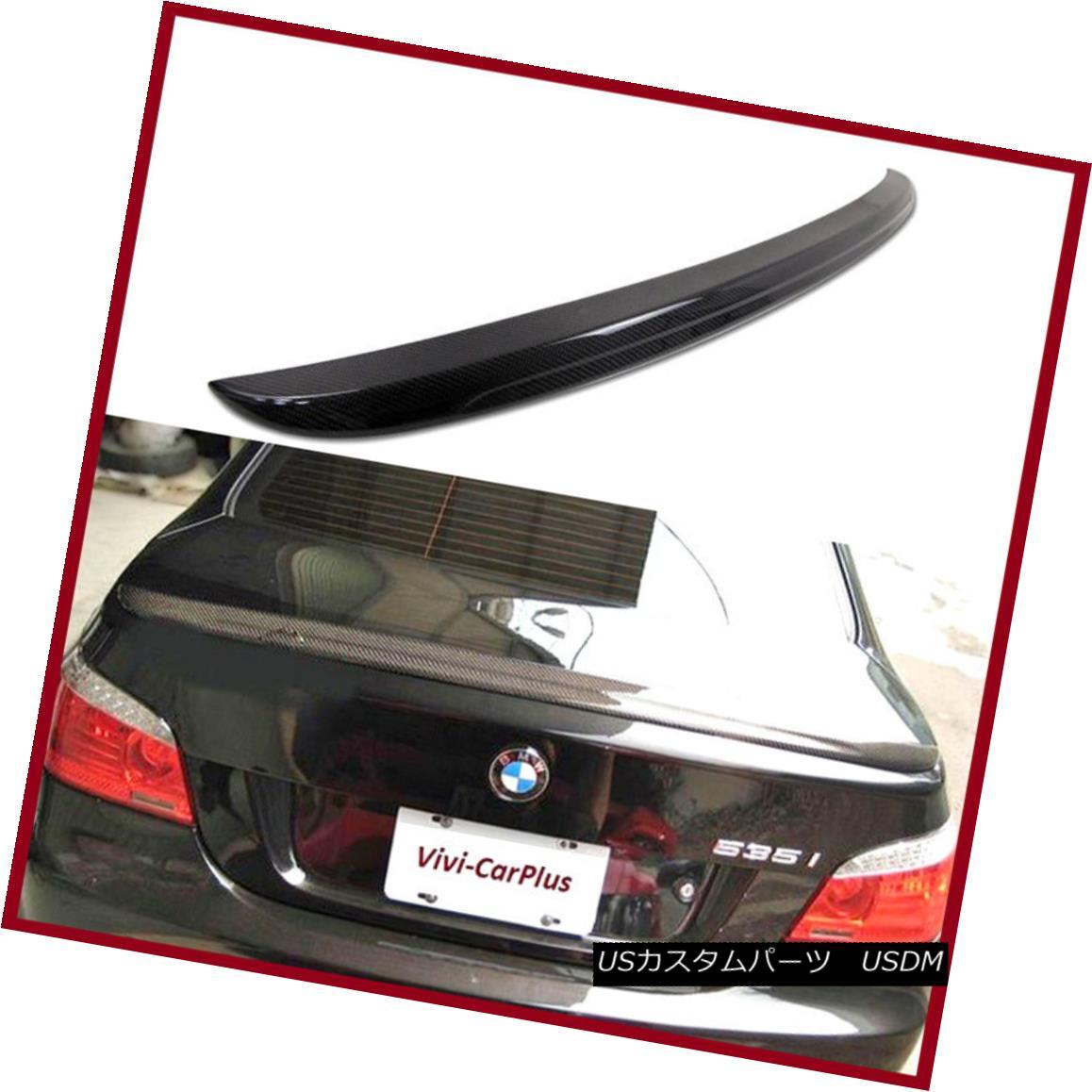 エアロパーツ M5 Type Carbon Fiber Trunk Boot Spoiler Fit 04-10 BMW E60 535i 540i 550i 4Dr M5タイプカーボンファイバートランクブーツスポイラーフィット04-10 BMW E60 535i 540i 550i 4Dr