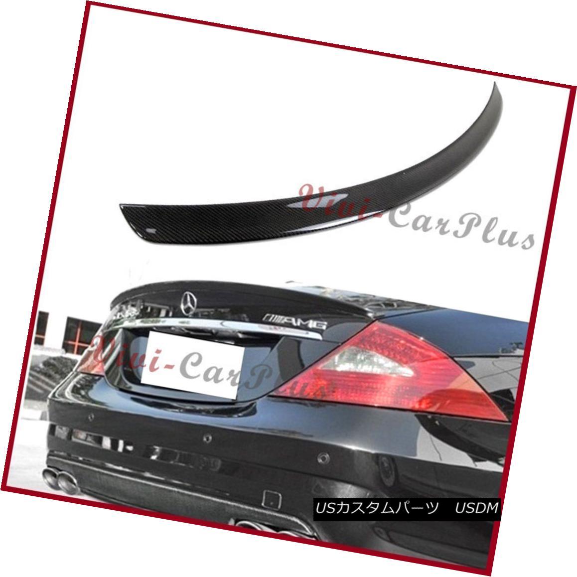 エアロパーツ For 04-10 M-Benz W219 CLS350 CLS550 CLS63 AMG Type Trunk Spoiler 3K Carbon Fiber 04-10 MベンツW219 CLS350用CLS550 CLS63 AMGタイプトランクスポイラー3Kカーボンファイバー