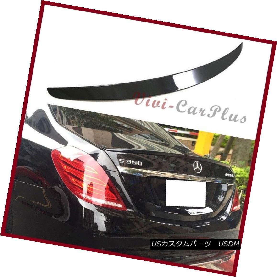 エアロパーツ #197 Obsidian Black 14-16 On Benz W222 OE Look S400 S500 S550 S600 Trunk Spoiler #197 Obsidian Black 14-16ベンツW222 OEルックS400 S500 S550 S600トランク・スポイラー