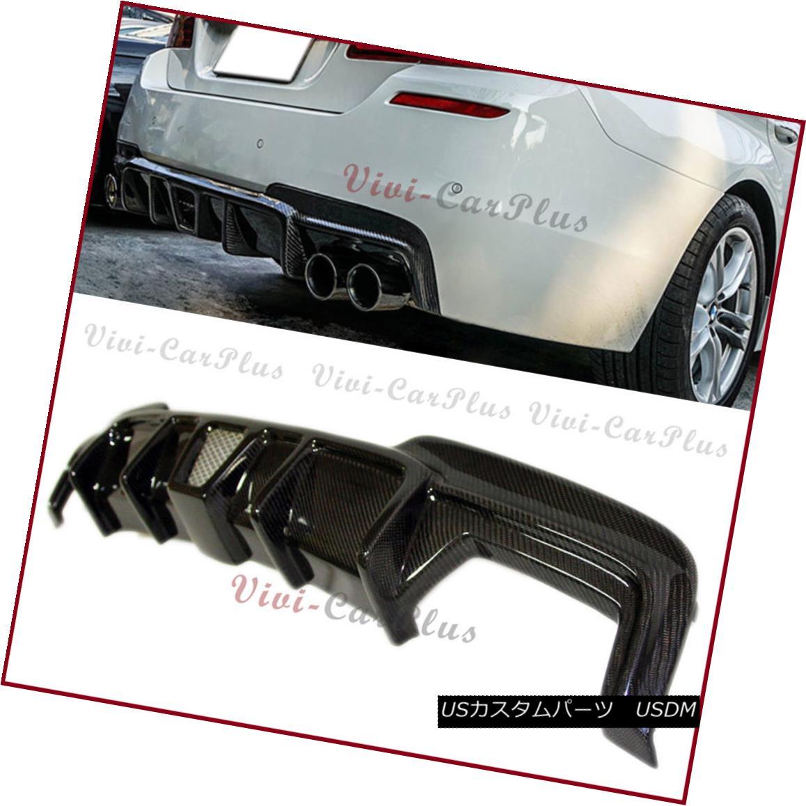 エアロパーツ Fit BMW 11-15 F10 F11 Sedan Wagon M-Sport Bumper GTS Type Carbon Fiber Diffuser フィットBMW 11-15 F10 F11セダンワゴンMスポーツバンパーGTSタイプ炭素繊維ディフューザー