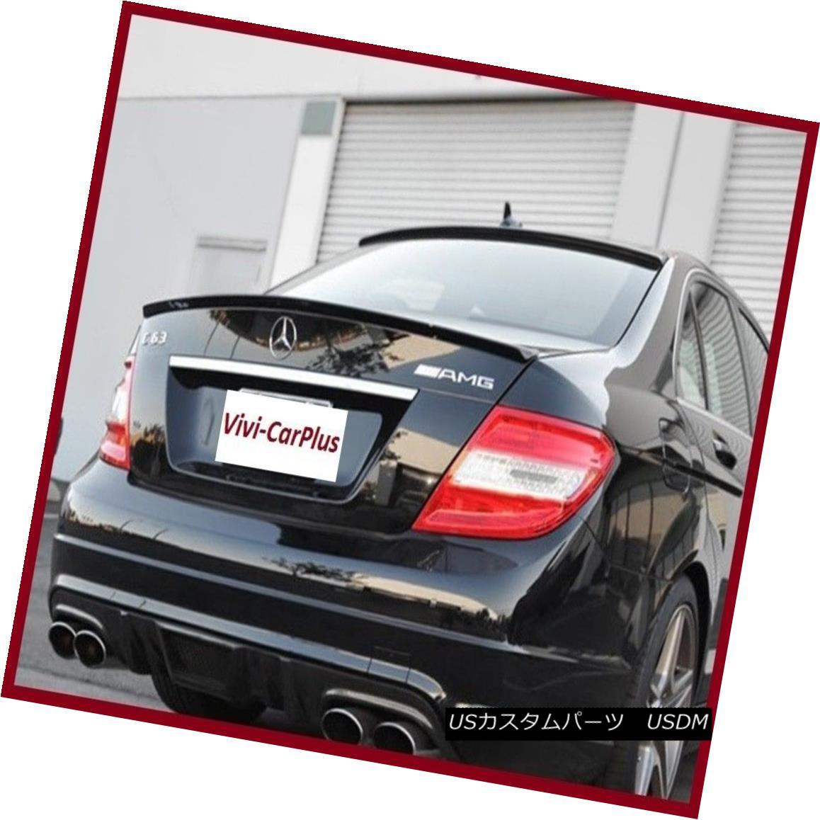 エアロパーツ Select Color 08-14 M-Benz W204 C300 C350 C63 4Dr AMG Type Trunk Boot Spoiler Lip カラーを選択してください08-14 M-Benz W204 C300 C350 C63 4Dr AMGタイプトランク・ブーツ・スポイラー・リップ