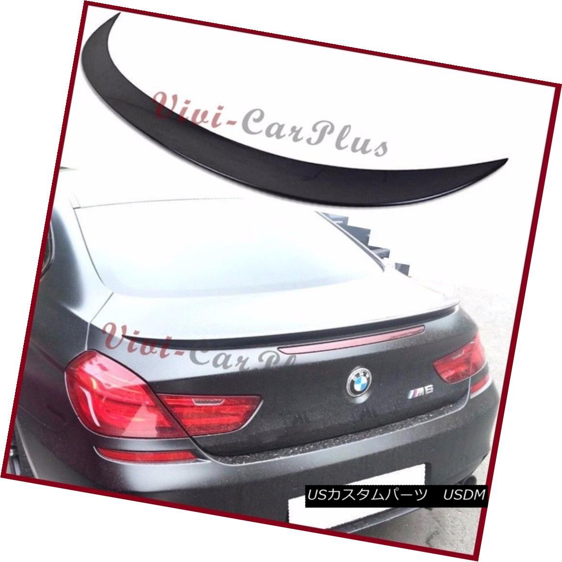 エアロパーツ Painted M6 Look Trunk Spoiler Fit 2012-2015 BMW F13 640i 650i M6 Coupe Tail Wing 塗装済みM6ルック・トゥ・リズム・スポイラーフィット2012-2015 BMW F13 640i 650i M6クーペテールウィング