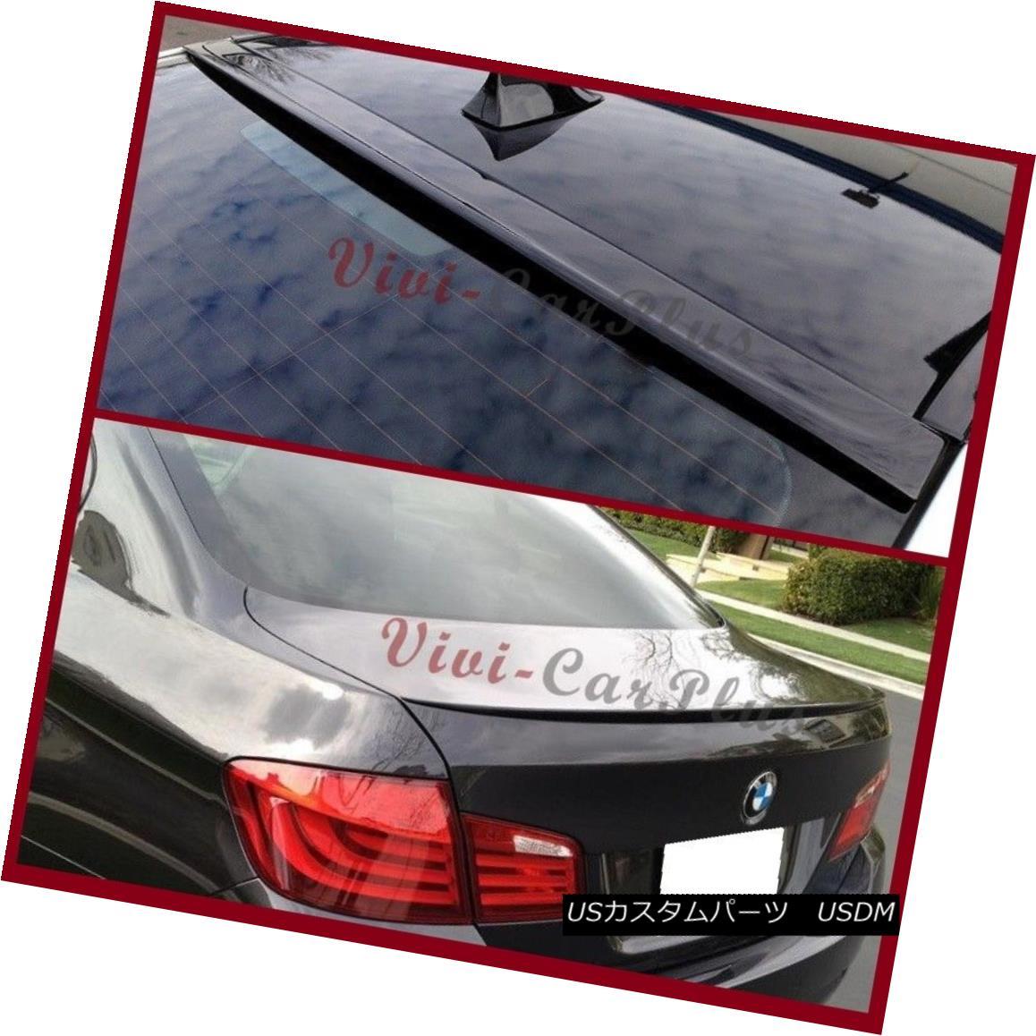 エアロパーツ Pick Color 11-16 BMW F10 4DR 528i 535i 550i 3D Roof Lip + M5 Trunk Spoiler Combo ピックカラー11-16 BMW F10 4DR 528i 535i 550i 3Dルーフリップ+ M5トランクスポイラーコンボ