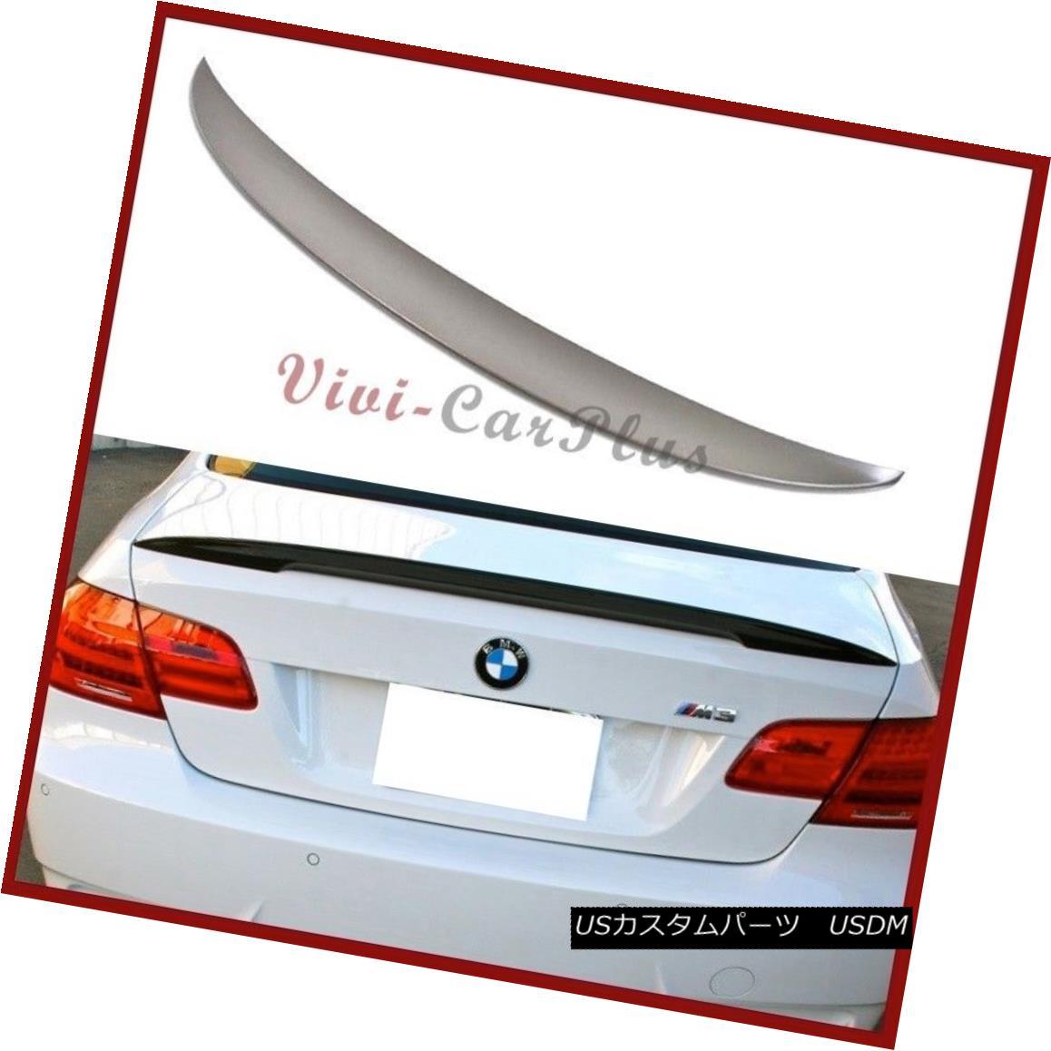 エアロパーツ UNPAINTED 07-13 BMW E92 328i 335i M3 2DR High Kick P Look Wing Trunk Spoiler Lip UNPAINTED 07-13 BMW E92 328i 335i M3 2DRハイキックPルックウイングトランク・スポイラー・リップ