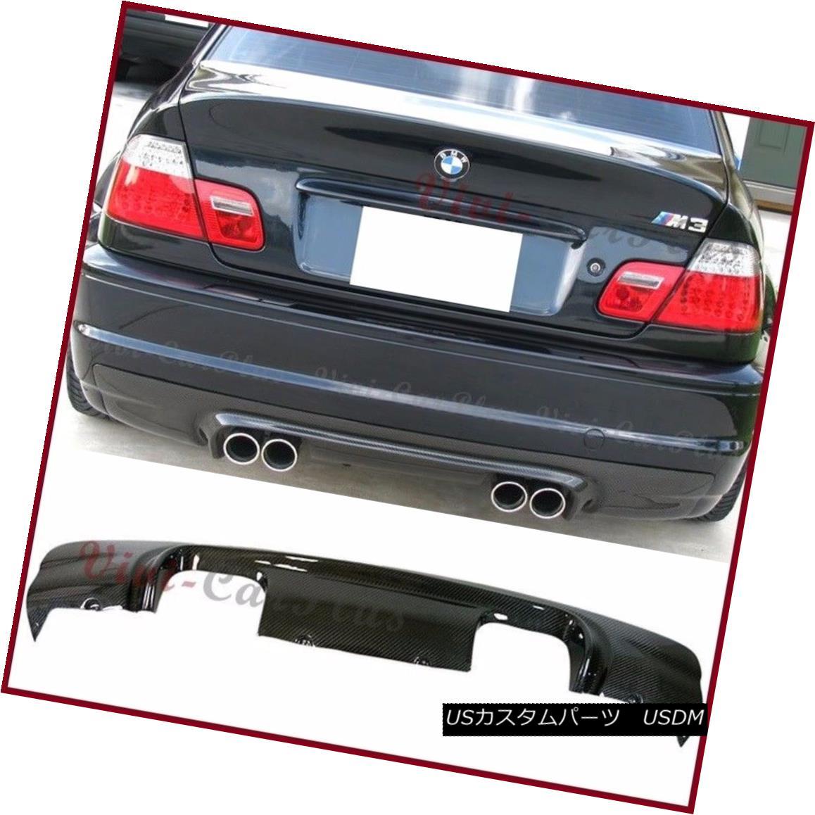 Fiber E46 Replace 2001年6月E46 エアロパーツ CS Look Rear 2001-06 Spoiler For BMW M3カーボンファイバーCSバックリアバンパーディフューザー交換 Diffuser M3 BMW Bumper Carbon